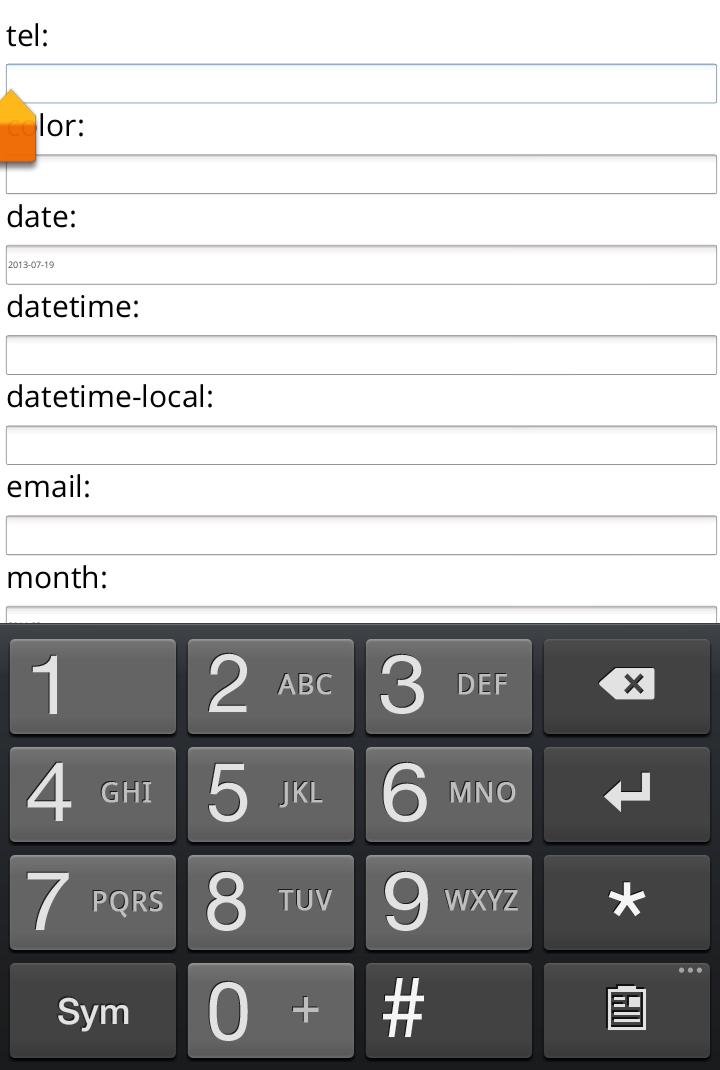 Html5 Input Types Mobile Keypad Jan Patrick Lara
